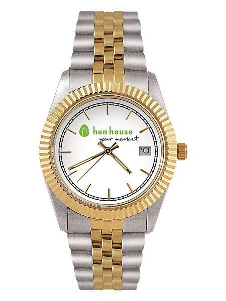 Royal 2-Tone Custom Logo Watch