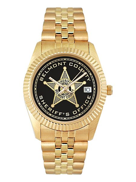 royal gold custom logo watch