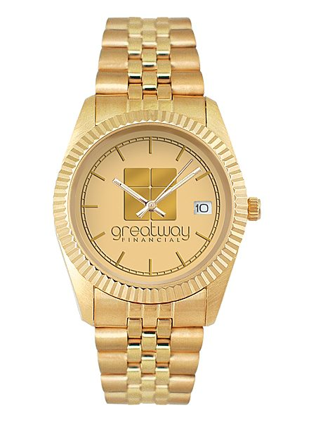 royal Gold Custom Logo Watch