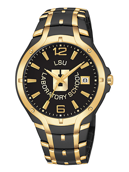 royal midnight gold custom logo watch