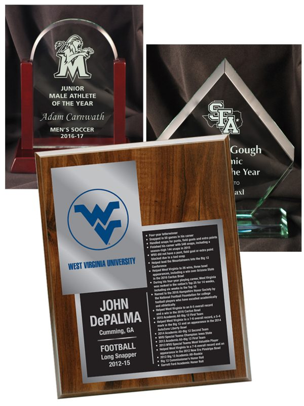 Etched Plaques and Glass Awards