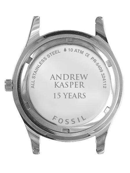 Fossil Engraved Case Back